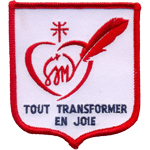 Badge Tout transformer en joie
