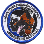 Badge gendarme cynophile
