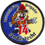 Badge Pompiers Anderlecht 14