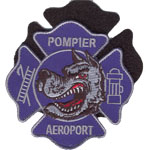 Badge Pompiers aeroport
