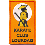 Badge Karathé Club Lourdais