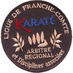 Badge Karate France-Comté