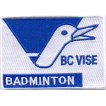 Badge badminton vise