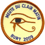 Badge Scouts Clair Matin