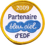 Badge Bleu ciel