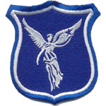 Badge bleu